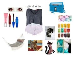 """""""being lazy with cats"""" by zbeetayzzzy ❤ liked on Polyvore featuring With Love From CA, MacKenzie-Childs, Ladurée, Levi's, iHome, Boohoo, Victoria's Secret and WALL"""