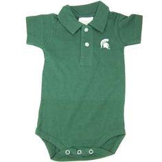 Michigan State Golf Shirt Romper