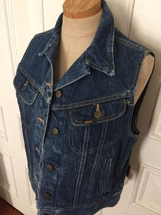A personal favorite from my Etsy shop https://www.etsy.com/listing/290276655/vintage-80s-lee-denim-jean-vest