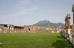 Pompeii with Mt. Vesuvius, Italy