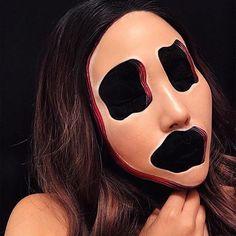 Happy Friday 13th @mimles #mehron #halloweenmakeup #mehronmakeup #opticalillusion #makeup #mehrongirl #halloween #mua #halloweencostume #halloween2017 #sfx #sfxmakeup #scarymakeup
