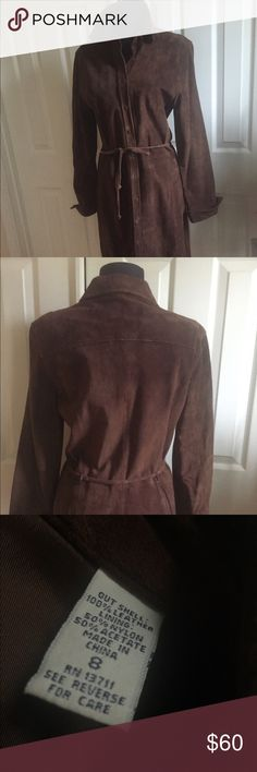 LORD & TAYLOR LEATHER DRESS LORD & TAYLOR LEATHER (100%)DRESS!Gorgeous brown suede leather - button-front style -fully lined good condition dress. Lord & Taylor Dresses Long Sleeve