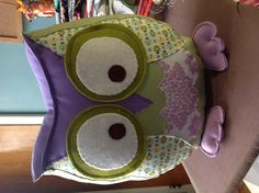 An owl pillow. I have made this as a special order but might make more for my etsy store.