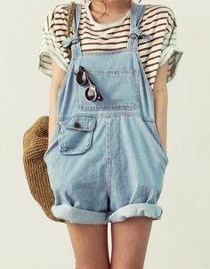 #macação #jeans #listras