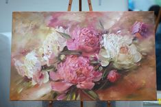 Мастер-класссы | VK Painting Collage, Oil Painting Flowers, Paintings, Art Floral, Flower Artists, Acrylic Painting Tutorials, Arte Pop, Big Flowers, Finger Art