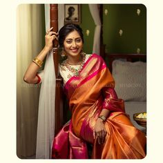 Want to shop the best classic silk saree designs? Do check out this brands collection. Cotton Saree Designs, Saree Blouse Designs, Dress Designs, Blouse Patterns, Sari Blouse, Indian Beauty Saree, Indian Sarees, Kanjivaram Sarees Silk, Kanchipuram Saree