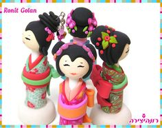 Kokeshi Dolls -  Japanese Sayonara Doll  -----------------------------------------------  The tutorial for this doll by Janice VanBeek is from the Summer 2007 issue of PolymerCafe.