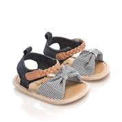 Stripe Bow Shoes - Baby