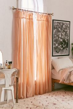 4040 Locust Gathered Voile Curtain - Urban Outfitters