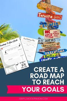 Planning Maps, Goal Planning, To Do Planner, Planner Tips, Career Goals, Life Goals, Color Coding Planner, Dream Motivation, Map Worksheets