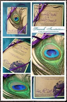 Peacock Vintage Style Save the Date Cards