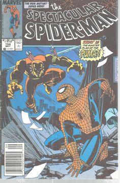 Spectacular Spiderman Marvel Comic Vol 1 No 154 Sept 1989 Puma