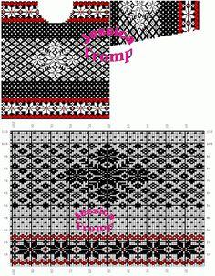 MES FAVORIS TRICOT-CROCHET: Le jacquard Knitting Charts, Knitting Stitches, Crochet Jacket, Knit Crochet, Motif Fair Isle, Stitch Patterns, Knitting Patterns, Charts And Graphs, Fair Isle Knitting
