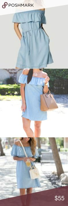 NWT LOFT chambray dress! NWT. size small. Adorable dress. Needs to be loved! LOFT Dresses