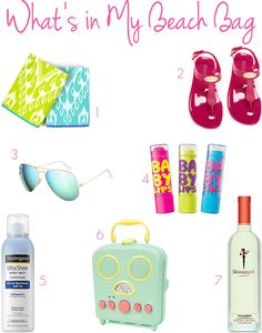 What's in My Beach Bag: Beach Bag Essentials http://www.thesouthernthing.com/2014/07/whats-in-my-beach-bag.html