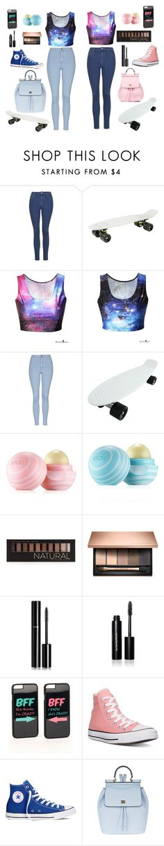 """""""Perfect day for you and your Best Friend with penny board!"""" by luizes ❤ liked on Polyvore featuring Topshop, Eos, Forever 21, Chanel, Bobbi Brown Cosmetics, JFR, Converse and Dolce&Gabbana"""
