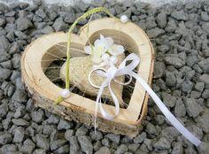 ... Ringhalter Herz 13 cm creme für Eheringe Hochzeit Liebe aus Holz