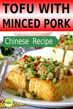 Tofu with minced pork - How to prepare in 4 simple steps (With proven tips) - NALA Best Tofu Recipes, Easy Asian Recipes, Pork Recipes, Ethnic Recipes, Drink Recipes, Pork Tofu Recipe, Chicken Peas Recipe, Authentic Chinese Recipes, Chinese Tofu Recipes