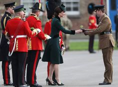 Prince William, Duke of Cambridge, Catherine, Duchess of Cambridge, appearance in London Friday to honor soldiers from the Irish Guards on St. Patrick's Day.