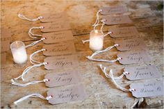 brown tag escort cards http://www.weddingchicks.com/2013/09/03/auberge-du-soleil/