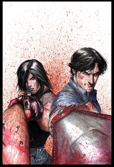 Army Of Darkness Vs. Hack/Slash by Stefano Caselli