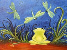 Twinkle Frog Art Print- Original Artwork