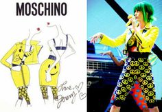 Katy Perry In Moschino - Prismatic World Tour. Re-tweet and favorite it here: https://twitter.com/MyFashBlog/status/465594070220288000/photo/1