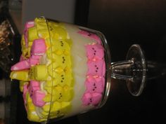 "My ""Peeps"" trifle for easter !"