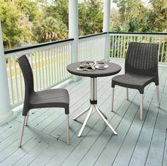 Patio Bistro Set 3 Piec Wicker Outdoor Dining Rattan Furniture Table Garden Yard #PatioBistroSetCollection
