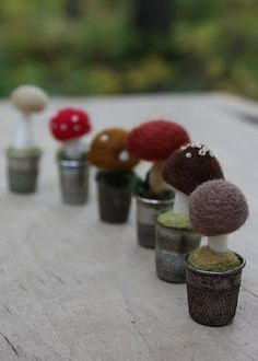 cute: felted mushrooms