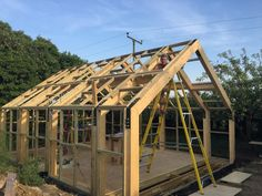 Building our workshop – LayerTree Workshop Architecture, Timber Architecture, Work Shop Building, Building A House, Garden Shed Interiors, Garden Lodge, Small Log Cabin, A Frame House, Shed Homes