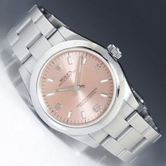Rolex Midsize 31MM Oyster Datejust Stainless Steel Pink Arabic Dial 177200