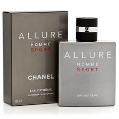 Allure Homme Sport Extreme by Chanel Eau De Parfum Spray for MenThe sporty, sensual scent, in a new concentrated Eau de Parfum, is heightened with. Chanel Allure Homme Sport, Chanel N5, Parfum Chanel, Hermes Perfume, Coco Chanel, Best Perfume For Men, Best Fragrance For Men, Best Fragrances, Packaging
