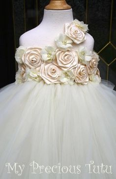 Hey, I found this really awesome Etsy listing at https://www.etsy.com/listing/200959167/ivory-flower-girl-dress-by-my-precious