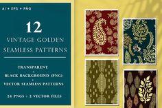 Vintage Golden Stamp Patterns by Shivangi Dubey on @creativemarket