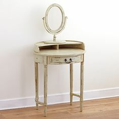 Christa Vanity Table with Mirror - World Market - $129.99