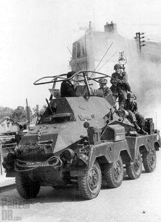 schwerer Panzerfunkwagen (Sd.Kfz. 263) (8-Rad) Fallschirmjägern on the rear…