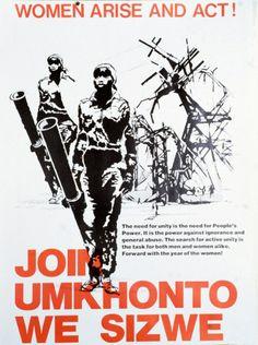 Umkhonto weSizw, [Fer de Lance], l'alliance armée de l'AFrican National Congress [ANC] et du South Africa Communist Party [SACP], fut créé en 1961 sous l'initiative de la jeune garde menée par Nelson Mandela, son premier commandant. Refusant le modèle de Gandhi d'une lutte pacifiste de désobéissance civile, Nelson Mandela préférait les conquêtes militaires de Ho Chi Minh, du Front de Libération d'Ahmed Ben Bella, de Fidel Castro et du commandant Guevara, qu'il citait en exemple