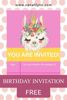 So you are looking for a llama birthday invitations printable for your little one's upcoming llama birthday party! You have come to the right place. Print this llama invite out and then send it out to all you party guests. When you are done with the llama invitation, be sure to check out our other llama party ideas for kids. Save this pin for later and then head to VanahLynn.com to check out all of our birthday party ideas! Party Favors For Kids Birthday, 16th Birthday Gifts, Birthday Gifts For Best Friend, Diy Birthday, Birthday Invitations, Valentine's Cards For Kids, Gifts For Kids, Printable Activities For Kids, Free Printables