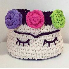 Crochet Case, Crochet Bowl, Crochet Diy, Crochet Basket Pattern, Knit Basket, Crochet Home Decor, Love Crochet, Crochet Coffee Cozy, Yarn Bag
