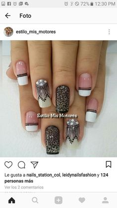 Nail Designs, Nail Art, Nails, Ideas, Fashion, Nail Bling, Mariana, Lace Nails, Matte Nail Designs