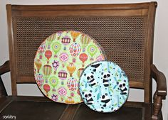 These round cushions are the perfect decorative accent for a bed, or sew one to use as a padded seat on a round stool. My children love tos...
