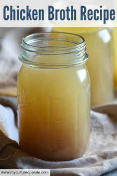 Don't settle for tasteless, nutrition-less and thin Chicken Bone Broth or Chicken Stock - make your own! It is so easy and I walk you step by step through a couple of different cooking methods.