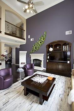 Purple living room ideas on pinterest purple rooms for White and purple living room designs