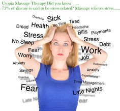 Utopia Massage Therapy Did you know  75% of disease is said to be stress related? Massage relieves stress.........