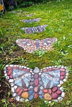 Classic Material for butterflies as stepping stones