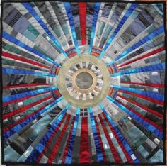 Large Hadron Collider quilts by Kate Findlay