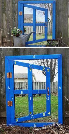 DIY Optical Illusion Garden Mirror | DIY Garden Projects Ideas Backyards | DIY Garden Decoartions Budget Backyard
