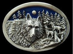 HOWLING WOLF WOLVES MOON RARE WILD LIFE NATURE CANADA NORTH BELT BUCKLE BUCKLES #Coolbuckles #WildWolfBeltBuckle #wolfbuckle #wolf #wolfbeltbuckle #beltbuckle