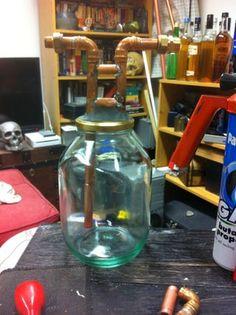 Build a Keg Still for Whiskey (Pot Still Design) : 12 Steps - Instructables Homemade Whiskey, Homemade Moonshine, Homemade Alcohol, Homemade Liquor, Moonshine Recipe, Making Moonshine, Moonshine Still Plans, Copper Moonshine Still, Home Distilling